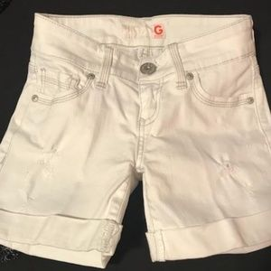 Guess White denim Shorts